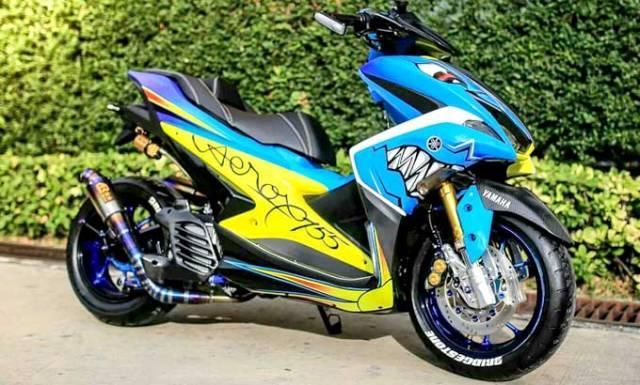 Modifikasi-Yamaha-Aerox-155-Ala-Murazaki-Shop