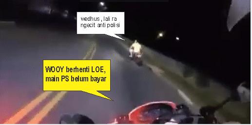 polisi ngejar motor