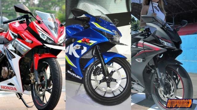 Yamaha-R15-V3-vs-new-Honda-CBR150R-vs-Suzuki-GSX-R150-Design-front